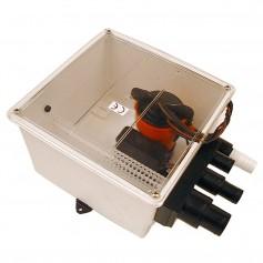 Johnson Pump 1000 GPH Multi Port Shower Pump 12V w-Switch