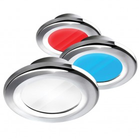 i2Systems Apeiron A3120 Screw Mount Light - Red- Cool White - Blue - Chrome Finish
