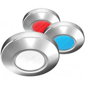 i2Systems Profile P1120 Tri-Light Surface Light - Red- Cool White Blue - Chrome Finish