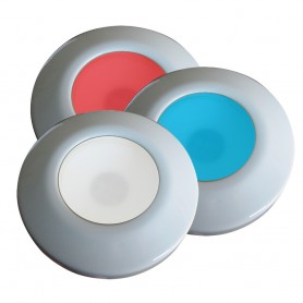i2Systems Profile P1120 Tri-Light Surface Light - Red- Cool White Blue - White Finish
