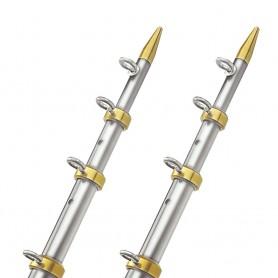 TACO 15- Telescopic Outrigger Poles 1-1-8- - Silver-Gold