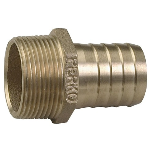 Perko 1-1-2 Pipe To Hose Adapter Straight Bronze MADE IN THE USA