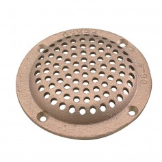Perko 4- Round Bronze Strainer MADE IN THE USA
