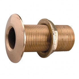 Perko 1- Thru-Hull Fitting w-Pipe Thread Bronze MADE IN THE USA
