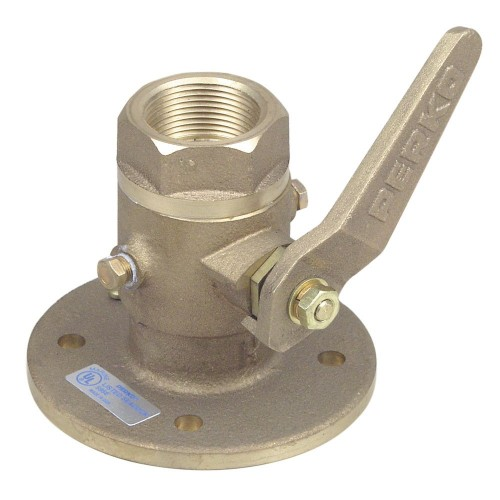 Perko 1-1-4- Seacock Ball Valve Bronze MADE IN THE USA