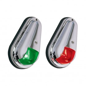 Perko 12V Vertical Mount Side Lights Chrome Plated Brass MADE IN THE USA