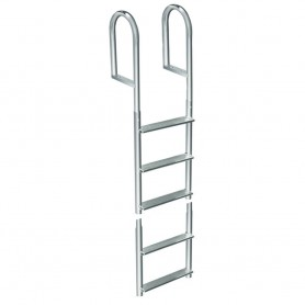 Dock Edge Welded Aluminum Fixed 5 Step Ladder
