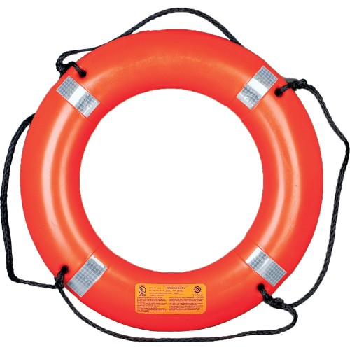 Mustang 30- Life Ring w-Tape - Orange