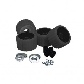 C-E- Smith Ribbed Roller Replacement Kit - 4 Pack - Black