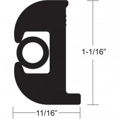 TACO Flex Vinyl Rub Rail Kit - Black w-Black Insert - 50- - 1-1-16-
