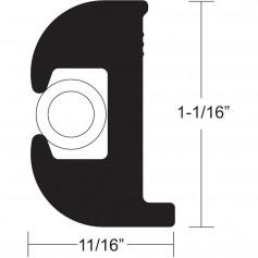 TACO Flex Vinyl Rub Rail Kit - Black w-White Insert - 50- - 1-1-16- x 11-16-