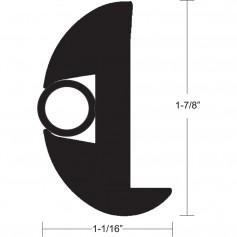 TACO Flex Vinyl Rub Rail Kit - Black w-Black Insert - 70- - 1-7-8- x 1-1-16-