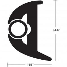 TACO Flex Vinyl Rub Rail Kit - Black w-Black Insert - 70- - 1-7-8- x 1-3-8-