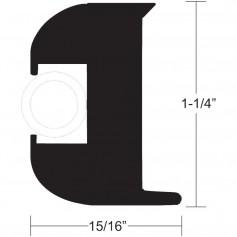 TACO Flex Vinyl Rub Rail Kit - Black w-White Insert - 50- - 1-1-4- x 15-16-