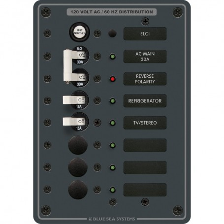 Blue Sea 8101 ELCI GFCI Panel AC 5 Position