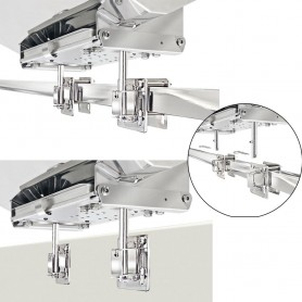 Magma Dual Square-Flat or Side Bulkhead Rail Mount HD