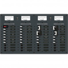 Blue Sea 8086 AC 3 Sources -12 Positions - DC Main -19 Position Toggle Circuit Breaker Panel -White Switches-