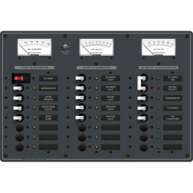 Blue Sea 8084 AC Main -6 Positions-DC Main -15 Positions Toggle Circuit Breaker Panel - White Switches