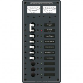 Blue Sea 8074 AC Main -8 Positions Toggle Circuit Breaker Panel - White Switches