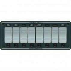 Blue Sea 8261 Waterproof Panel 8 Position - Slate Grey