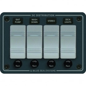Blue Sea 8262 Waterproof Panel 4 Position - Slate Grey