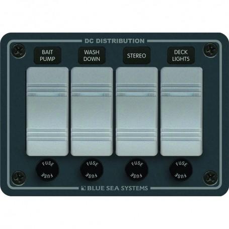 Blue Sea 8262 Waterproof Panel 4 Position - Slate Grey