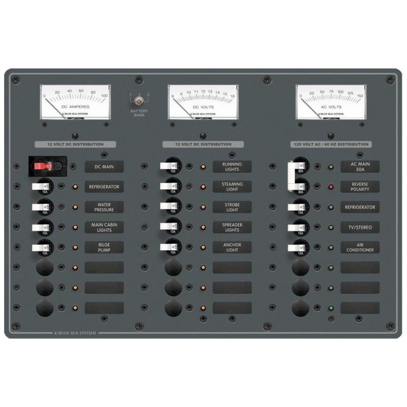 Blue Sea 8184 AC Main - 6 Positions-DC Main -15 Positions