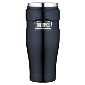 Thermos Stainless King Vacuum Insulated Travel Tumbler - 16 oz- - Stainless Steel-Midnight Blue
