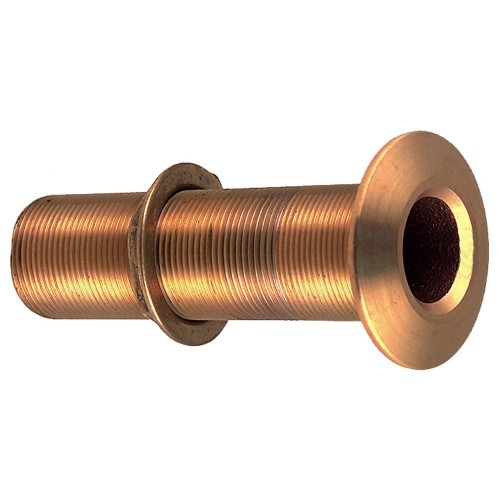 Perko 3-4- Thru-Hull Fitting w-Pipe Thread Bronze Extra Long - Max Hull 5- Thick