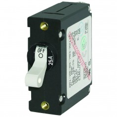 Blue Sea 7218 AC-DC Single Pole Magnetic World Circuit Breaker - 25AMP