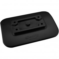 Scotty 341-BK Glue-On Mount Pad f-Inflatable Boats - Black