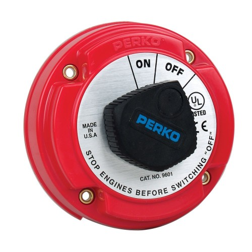Perko Medium Duty Battery Disconnect Shut Off-On - 250 Amp Continuous- 12-32VDC