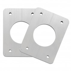 TACO Backing Plates f-Grand Slam Outriggers - Anodized Aluminum