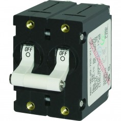 Blue Sea 7242 A-Series Double Pole Toggle - 50AMP - White