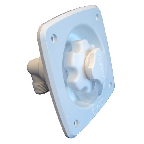 Jabsco Flush Mount Water Pressure Regulator 45psi - White