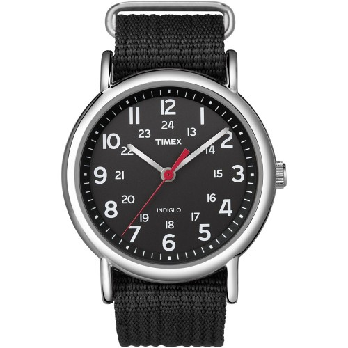 Timex Weekender Slip-Thru Watch - Black-Black