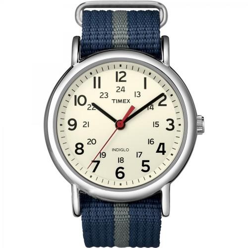 Timex Weekender Slip-Thru Watch - Navy-Grey