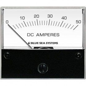 Blue Sea 8022 DC Analog Ammeter - 2-3-4 Face- 0-50 AMP DC