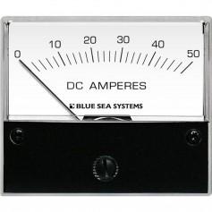 Blue Sea 8022 DC Analog Ammeter - 2-3-4 Face- 0-50 Amperes DC