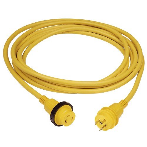 Marinco 30A 25- Molded Cordset - 125V - Yellow