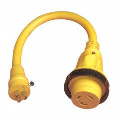 Marinco Pigtail Adapter Plus - 30A Female To 15A Male
