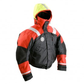 First Watch AB-1100 Flotation Bomber Jacket - Red-Black - Medium