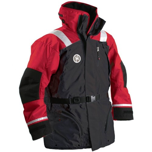 First Watch AC-1100 Flotation Coat - Red-Black - Medium