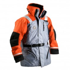 First Watch AC-1100 Flotation Coat - Orange-Grey - Large
