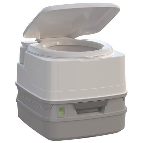 Thetford Porta Potti 260P MSD Marine Toilet 90 with Piston Pump- Level Indicator- and Hold-Down Kit