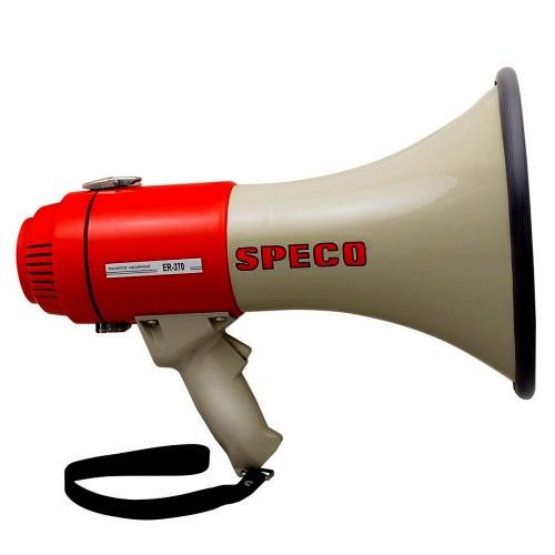 Speco ER370 Deluxe Megaphone w-Siren - Red-Grey - 16W