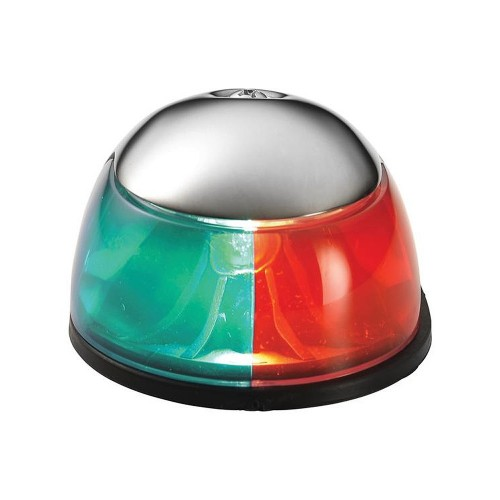 Attwood 2-Mile Deck Mount- Bi-Color Red-Green Combo - 12V - Stainless Steel Housing