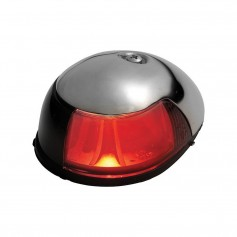 Attwood 2-Mile Deck Mount- Red Sidelight - 12V - Stainless Steel Housing