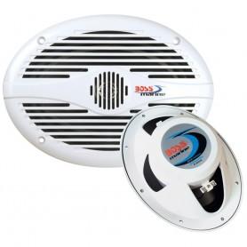 Boss Audio MR690 6- x 9- Oval Marine Speakers - -Pair- White