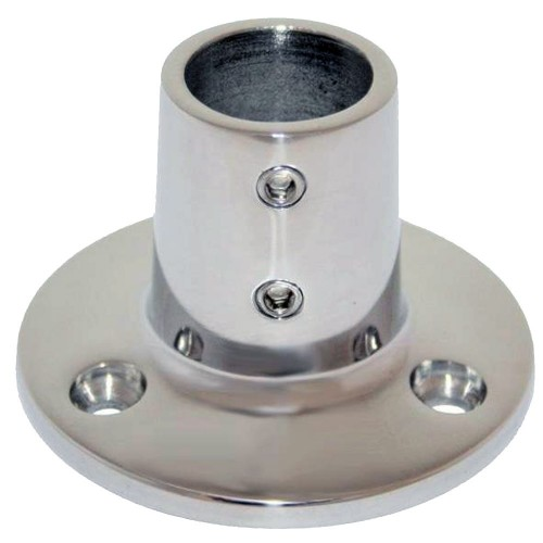 Whitecap 1- O-D- 90 Degree Round Base SS Rail Fitting